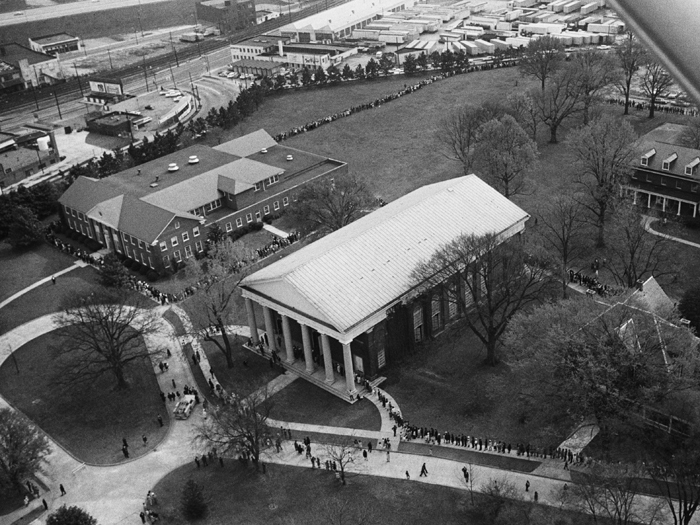 An aerial view of Spelman College.