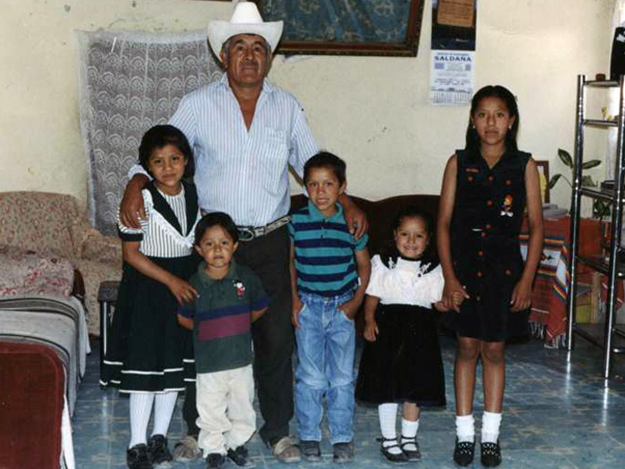 In Mexico with her family