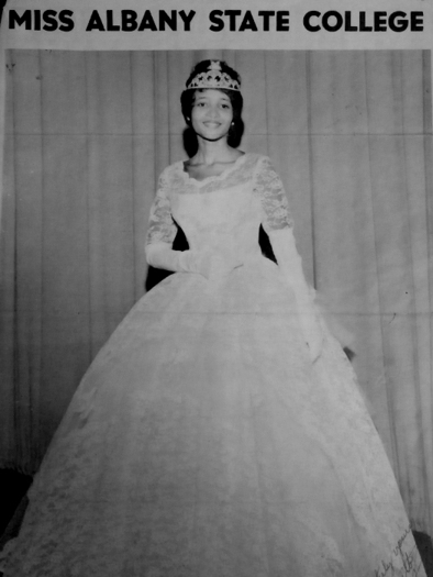 White as Miss Albany State, 1961