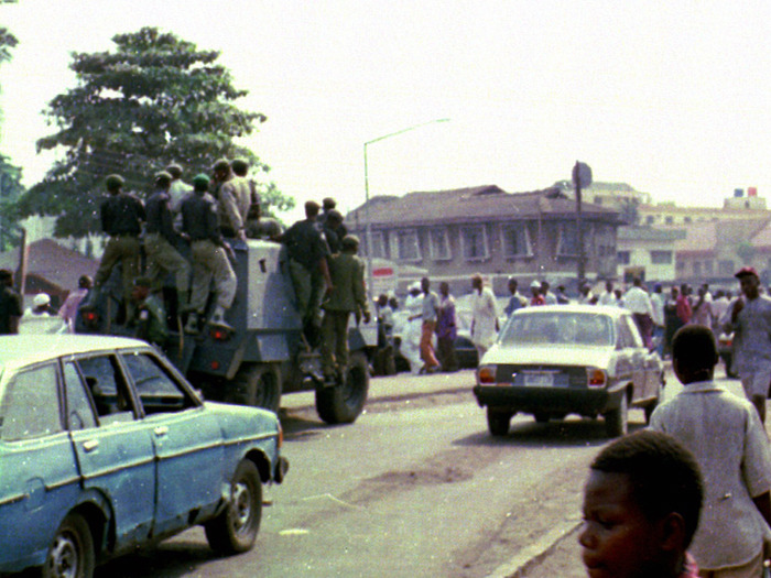 Protesting General Sani Abacha