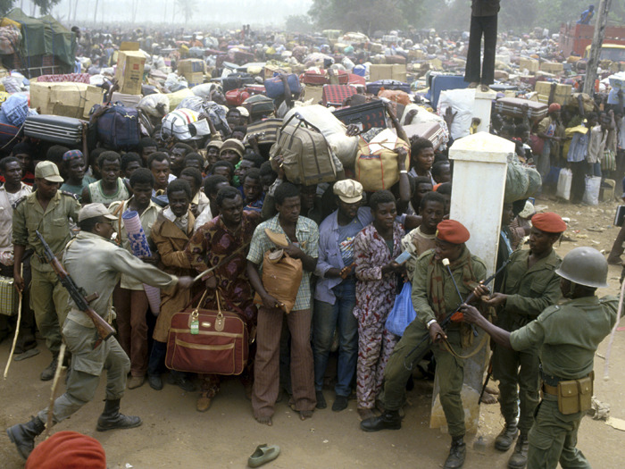 Refugees escaping Nigeria