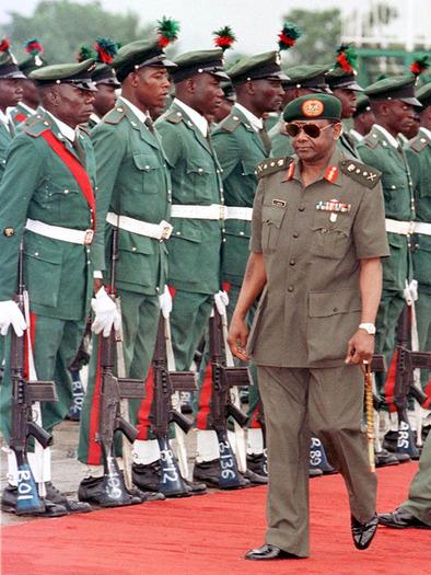 Nigerian President General Sani Abacha