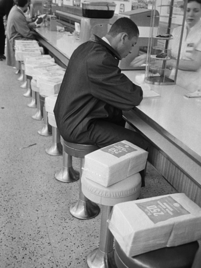 Sit-in at a lunch counter