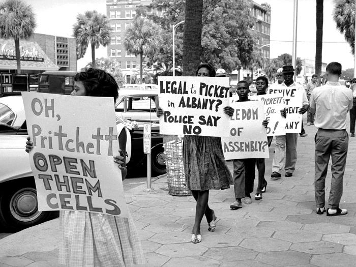 Protesting arrests