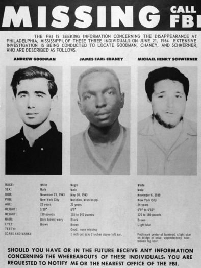 FBI search for missing Civil Rights workers