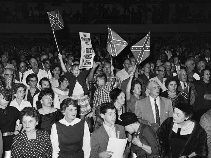 A White Citizens Council rally in New Orleans in 1960.