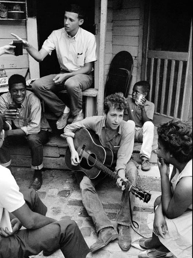 Bob Dylan at the SNCC office
