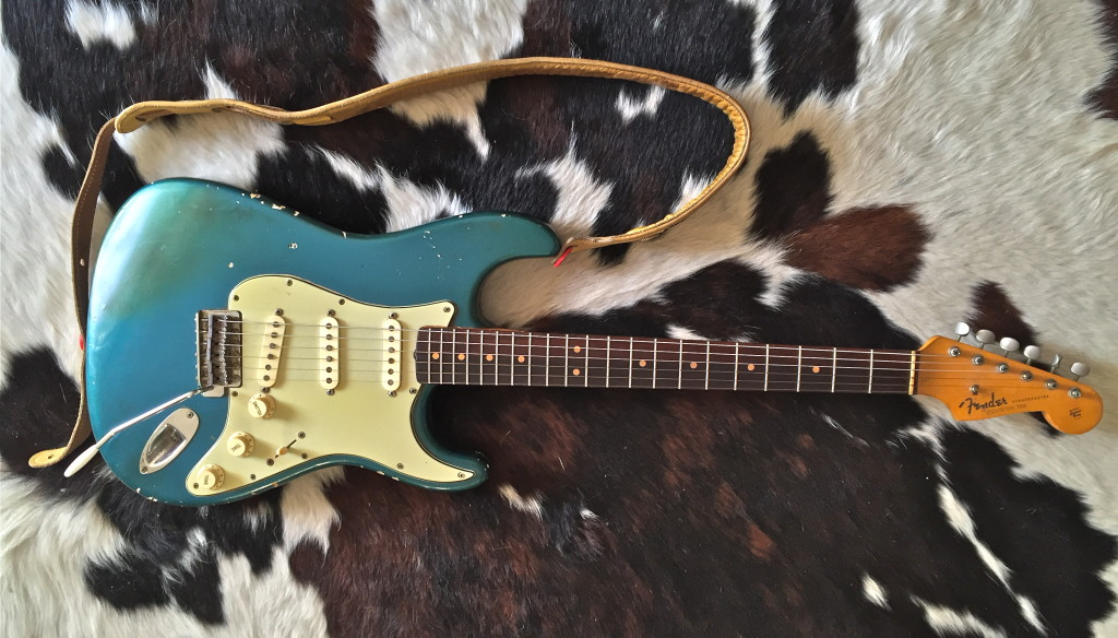 1963 Fender Stratocaster in Lake Placid Blue.