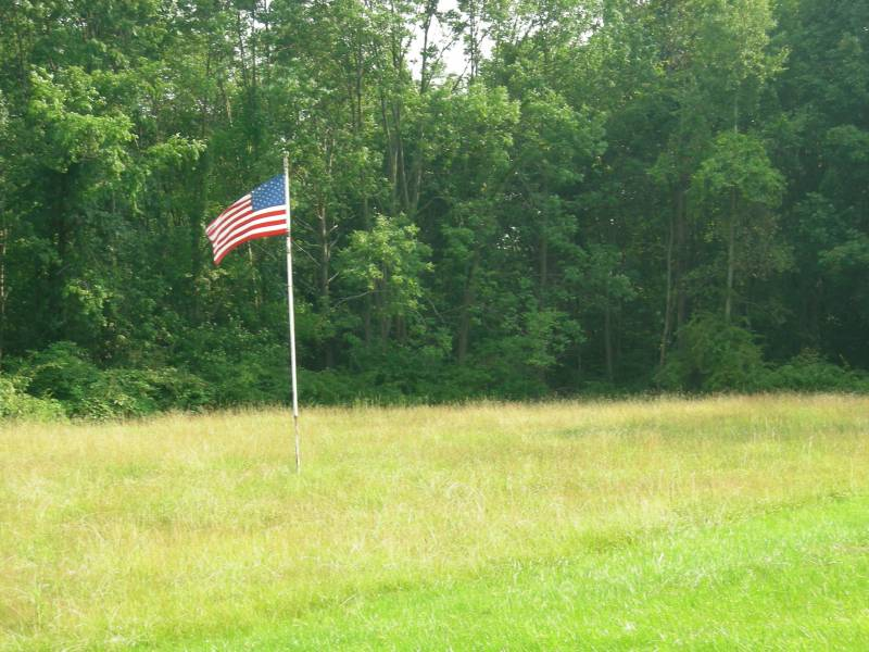 US Flag Off Golf Course Road