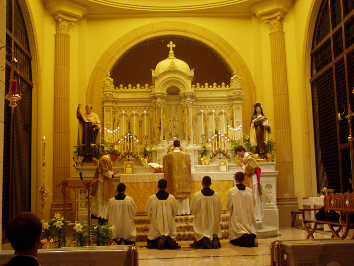 FSSP Seminary Easter Vigil at Carmel in Valparaiso