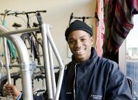 To raise money to go to Bike Mechanics School