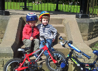 Four Year Old Daniel's Cycle Ride For Cancer