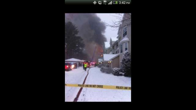Blizzard 2013 Avalon Oaks Apartment Fire
