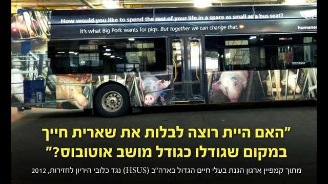 Vegan Mini Bus Ad in Israel
