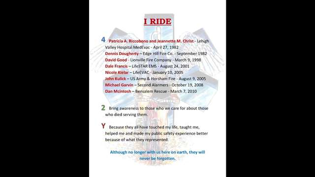 Support me in the National EMS Memorial Bike Ride