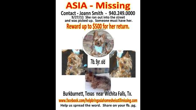 Help send out flyers to bring Asia home
