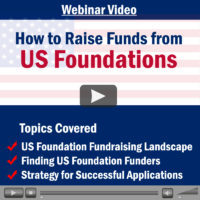 Webinar Video: How to Raise Funds from US Foundations