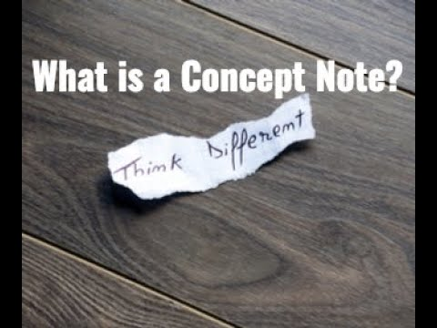 What is a Concept Note?