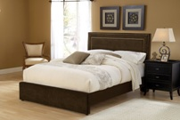 Hillsdale Amber Chocolate Fabric Bed in Queen or King