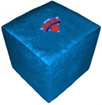 Baseline New York Knicks NBA Cube Ottoman