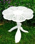 FlowerHouse Wrought Iron Patio White Butterfly Table