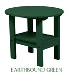 Outdoor Patio Adirondack Round Side Table