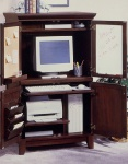Home Styles Shaker Style Computer Armoire with 4 doors