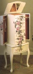 Coaster Roses Hand Painted Jewelry Armoire