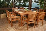 Livorno Square Table and 8 Stacking Chair Set