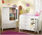 South Shore Baby Armoire & 3 Drawer Changing Table Set