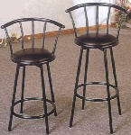 Swivel Metal Bar Stools