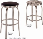 Trica Napa Brushed Steel Swivel Stool Backless