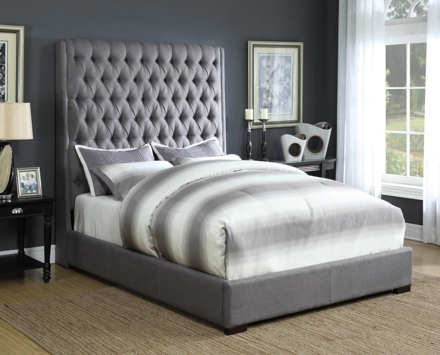 CAMILLE UPHOLSTERED BED - QUEEN BED | 300621Q | Complete Beds ...