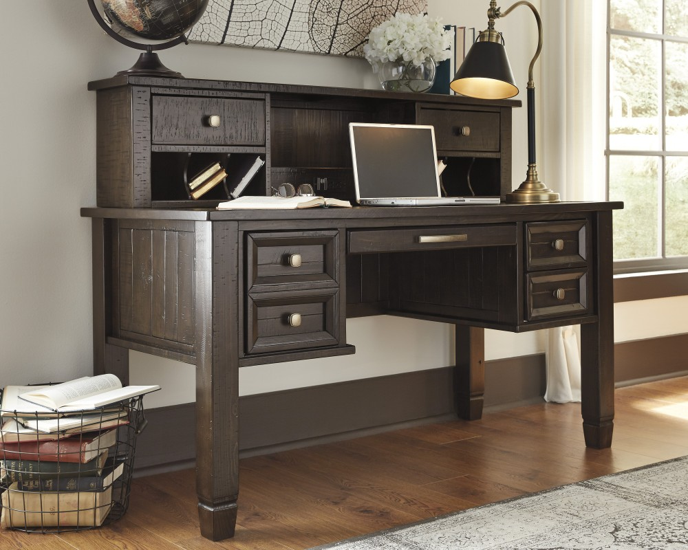 Townser Home Office Desk and Hutch | H636/27/48 | Home Office ...