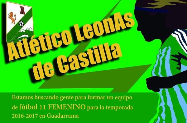 El Atlético Leones de Castilla busca jugadoras para su equipo Femenino - Temporada 2016/17