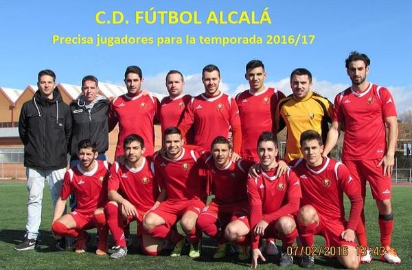 El C.D. Fútbol Alcalá necesita jugadores aficionados - Temporada 2016/17