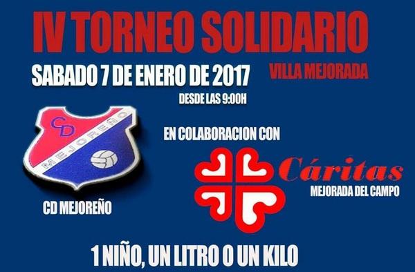 """IV Torneo Solidario """"Villa de Mejorada"""", sábado 7 de enero de 2017"""