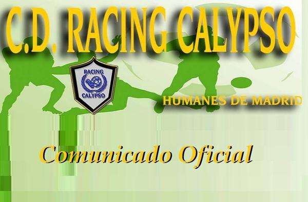 Comunicado del Racing Calypso ante las informaciones aparecidas en grandes medios de comunicación sobre una supuesta agresión a un colegiado