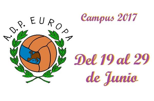 Campus 2017 A.D. Parque Europa - Del 19 al 29 de Junio de 2017