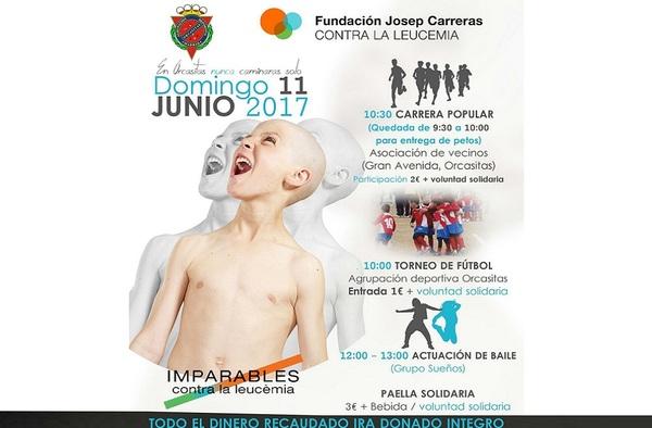 La A.D. Orcasitas organiza un evento solidario a favor de la lucha contra la Leucemia - Domingo 11 de Junio de 2017