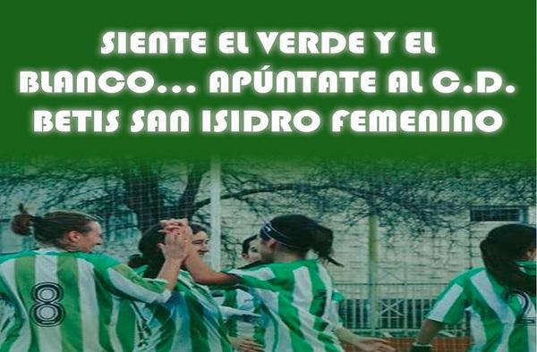 ¿ Buscas equipo femenino ?, apúntate en el Betis San Isidro