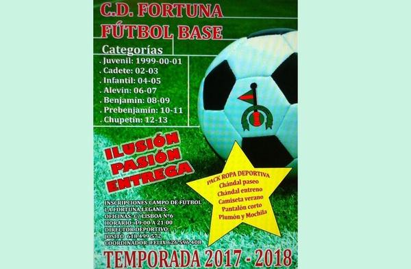 El C.D. Fortuna inicia las pruebas para la incorporación de jugadores - Temporada 2017/18