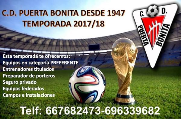 Juega en el C.D. Puerta Bonita para la temporada 2017/18