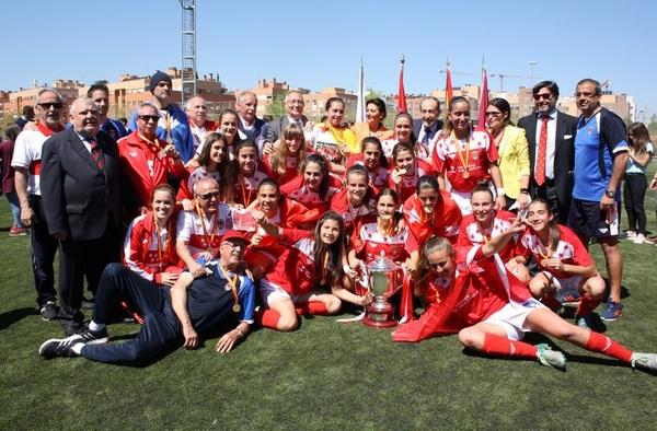 La RFFM rinde homenaje a sus tres selecciones campeonas hoy jueves en el colegio Valdeluz