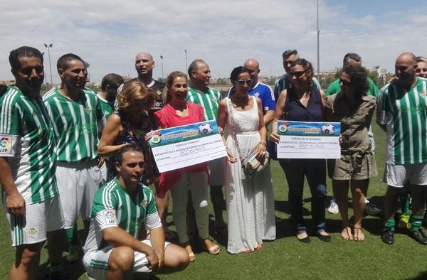 Los Veteranos de la Cantera Atlética, Campeones del Torneo Benéfico de Veteranos en Valdemoro celebrado el domingo 25 de junio