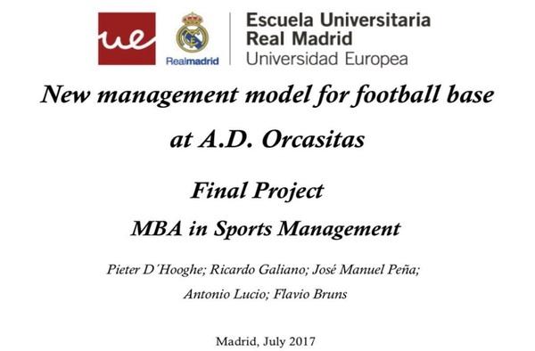 Proyecto Internacional de gestión deportiva con carácter social para la A.D. Orcasitas