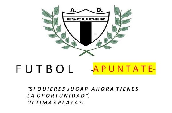 Últimas plazas para jugar en la A.D. Escuder San Pascual (fútbol base) - Temporada 2017/18