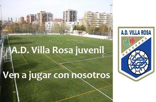 La A.D. Villa Rosa precisa Juveniles para la Temporada 2017/2018