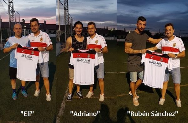 Adriano, Rubén Sánchez y Eli, renuevan para la temporada 2017/18 con el Atlético Loeches