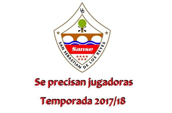 Se necesitan jugadoras para la U.D. San Sebastián de los Reyes - Temporada 2017/18
